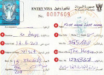 Visum Soedan